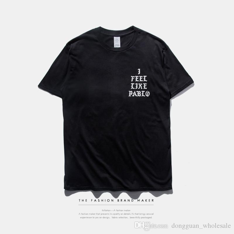 Camiseta para hombre TEMPORADA 3 me siento como pablo Camiseta de manga corta con cuello en u Camiseta Kanye West Carta con estampado Sportwear