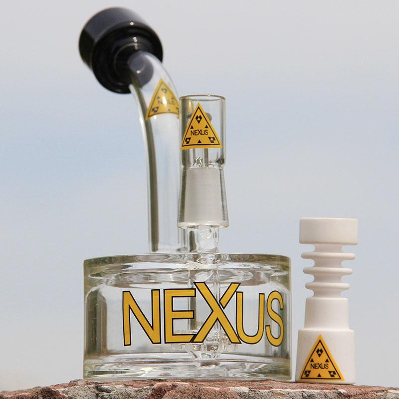 Nexus glass bong oil burner tire percolator vapor rig glass bubbler oil rig glass water pipe 14.4mm joint free shipping