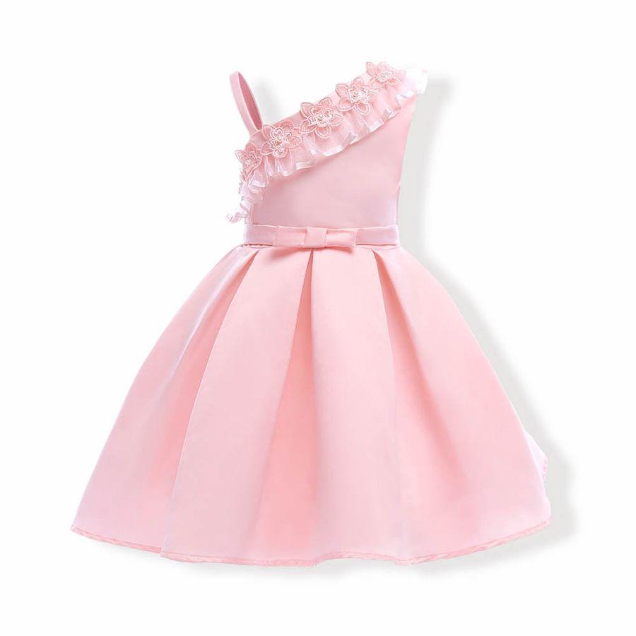 Compre Vestido De Niña Sin Mangas Rosa Vestido Infantil Para El ...