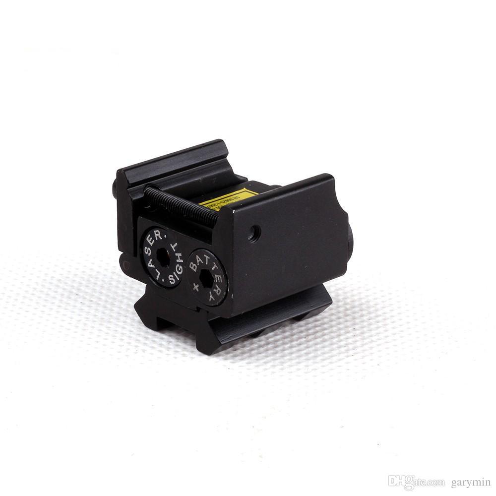 레일 마운트 20mm ht034 권총 건에 대 한 미니 조절 소형 전술 빨간 점 레이저 시력 범위 맞는