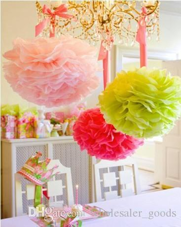 Party Decoration Wedding PartyS Xmas Home Outdoor Decor Tissue Paper Pom Poms Flower Balls Ball Origami Pro Themed Decorations
