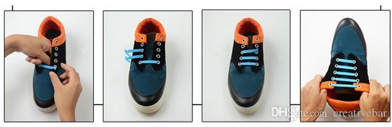 Ленивый шнурок без галстука шнурки эластичный Силиконовый шнурок для обуви все кроссовки подходят ремень 12 шт. / компл.