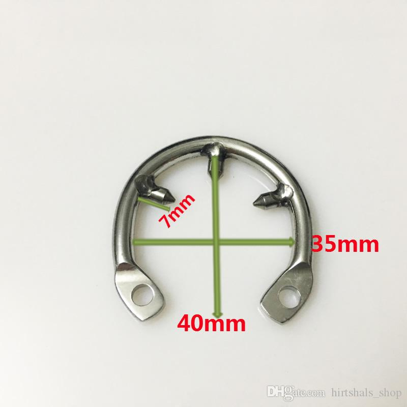 New anti-off spike ring for new design chastity cage new stainless steel chastity devices for men