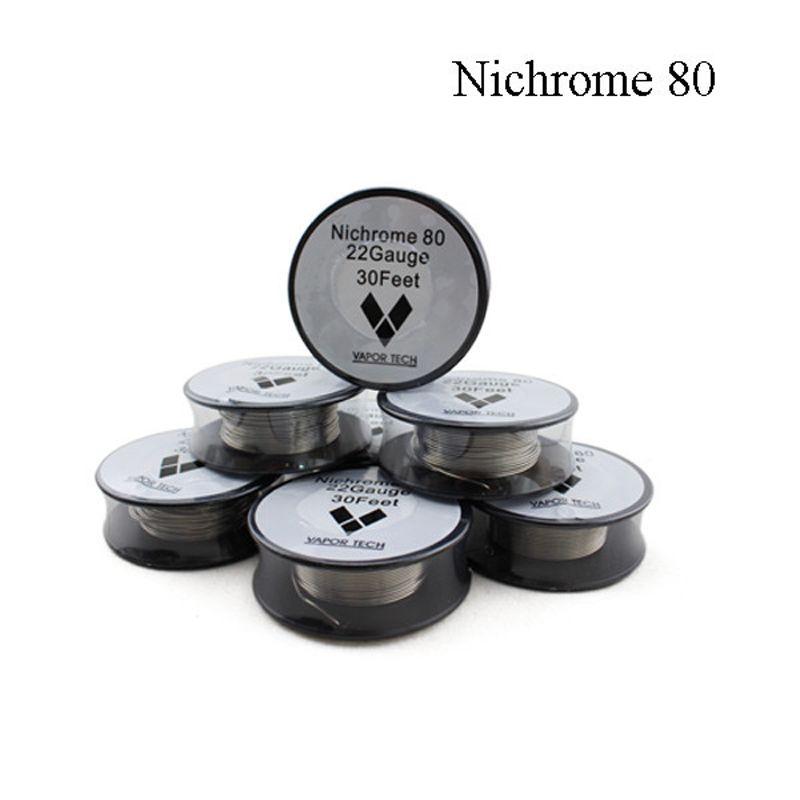 Filo riscaldante sigaretta elettronica Nichrome 80 Ni 80 Ricostruisci fili RDA Vaportech NIchrome 80 Ecigs Resistance Nichrome 22 Gauge Coils Wire Spool
