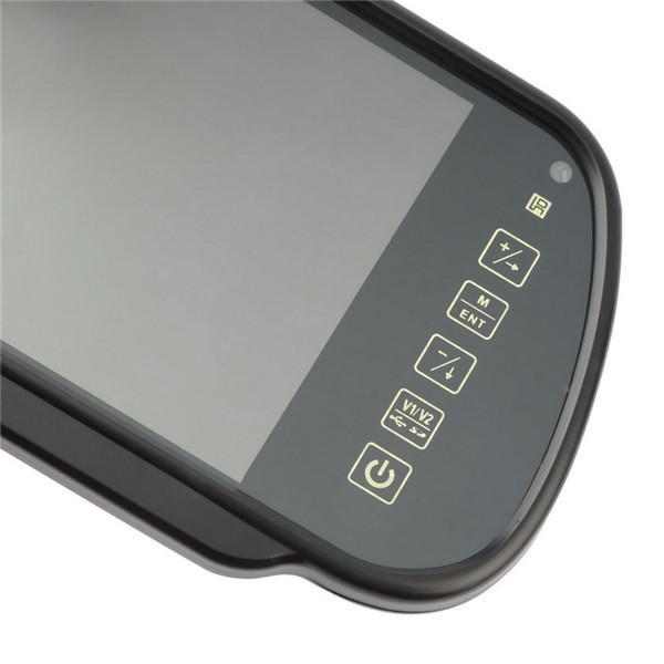 7 pouces TFT LCD miroir de voiture MP5 voiture Reverse Rearview écran tactile moniteur pour SD USB FM pour DVD TV Parking caméra Nouveau