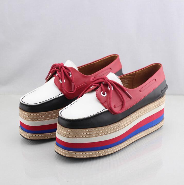 Jeffrey Campbell Boat Shoes Top Form Platform Shoes Wedge Flat ...
