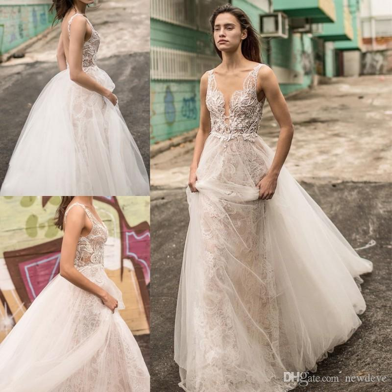 discount liz martinez 2018 full lace country wedding dress deep v