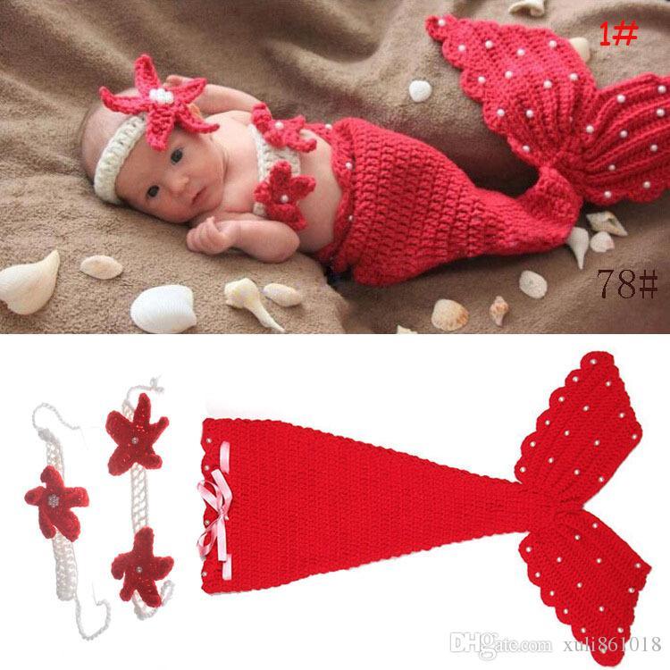 Compre Estrella De Mar Sirena Vendas Para Bebés Crochet Photography ...