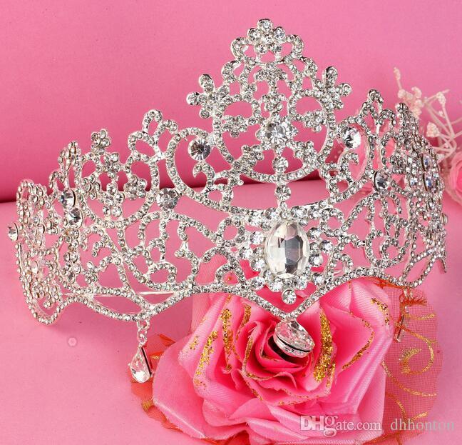Bridal Crown Tiaras Zubehör Hochzeit Schmuck Kristall Günstige Preis Mode Stil Braut Haarschmuck Schmuck HT137