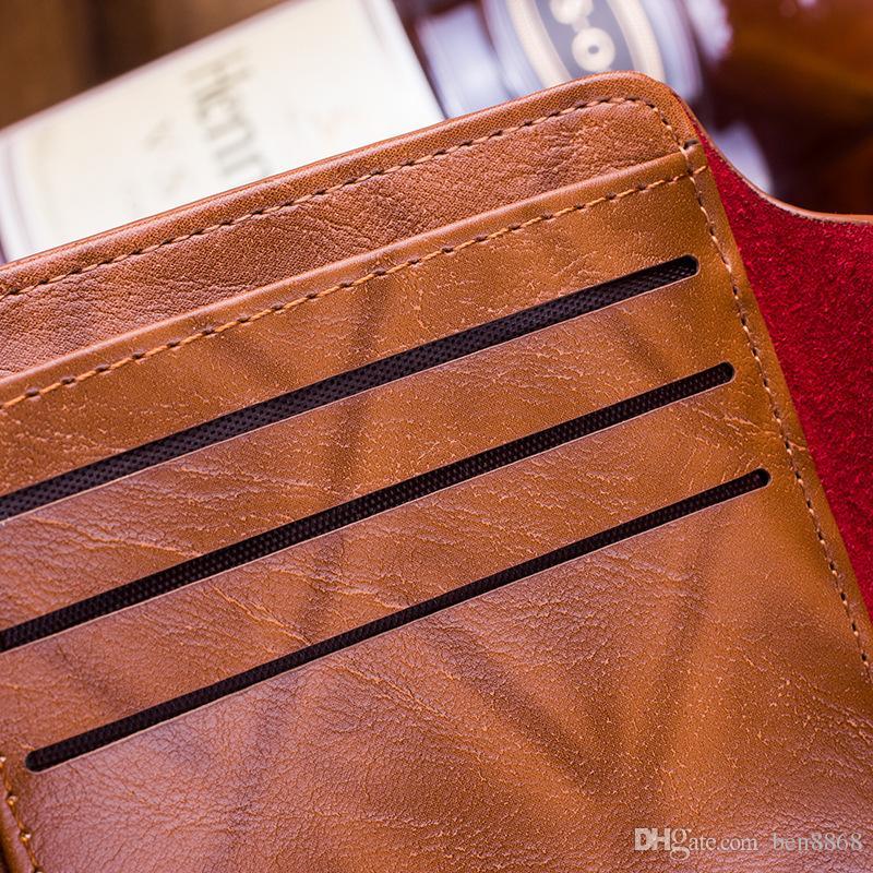 2016 мода мужчины доллар кошелек кошелек микс кожа дизайнер креативность держатели карт кошельки для мужчин Мужской кошелек Оптовая