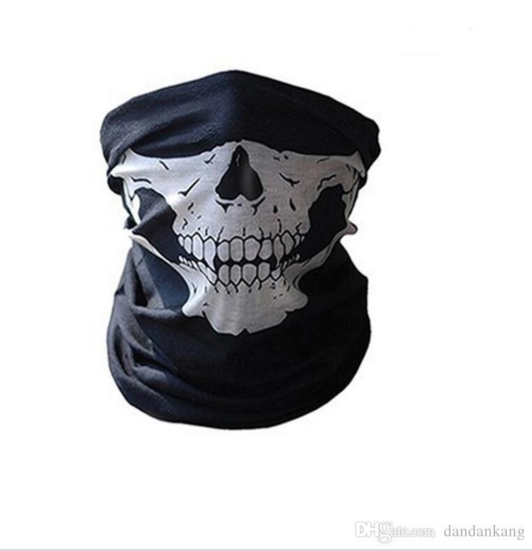 Crâne demi-visage masque magie écharpe bandana moto moto écharpes écharpes visage visage masque cyclisme cosplay ski motard masque tactique masques tactiques