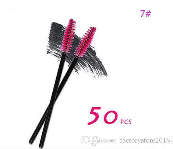 50 Teile / los Einweg Lip Eyeliner Wimpernbürste Einmalige Wimpernbürste Mascara Lippenstift Glanz Applikator Zauberstab Make-Up Pinsel Drop Shipping