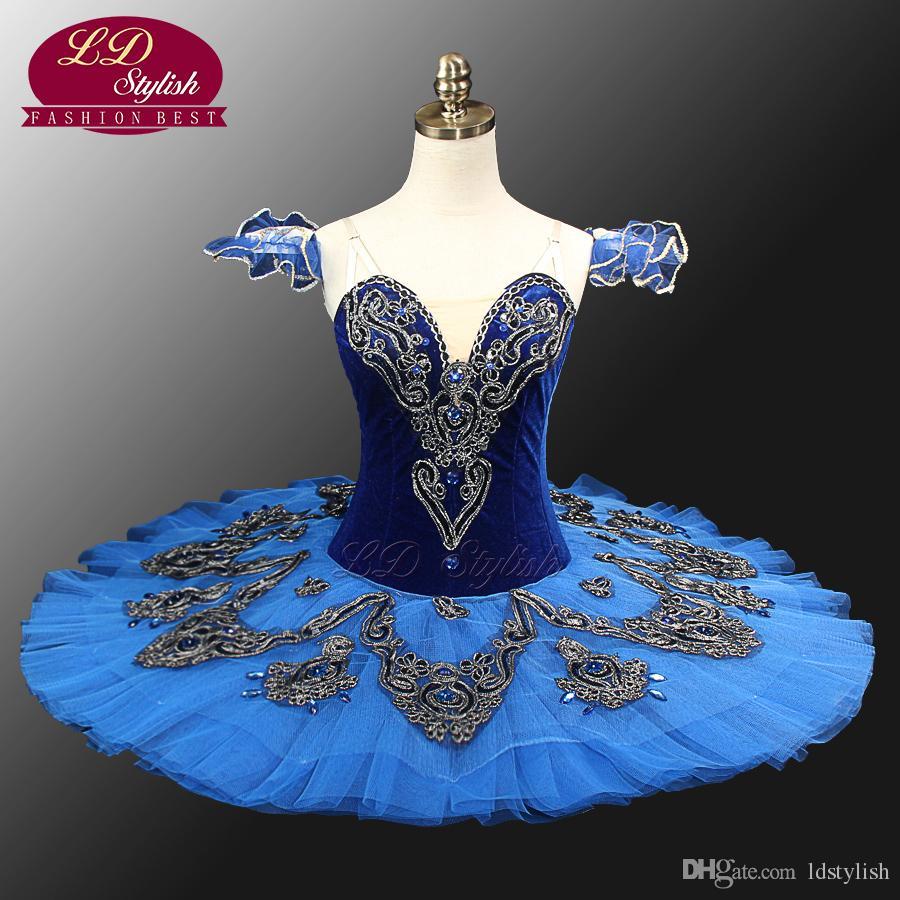 Blue Swan Lake Ballet Kostüme Rot Erwachsene Ballerina Kostüme Klassische Ballett Tutus Mädchen Professionelle Ballett Tutu LD0012