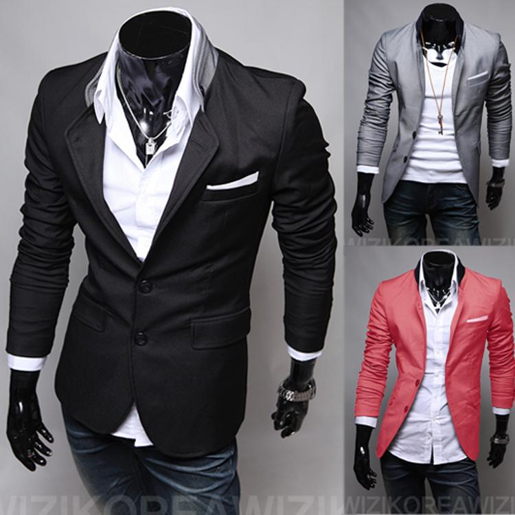 2017 Hot Sale Fashion New Blazers Slim Fit Casual Suits Spring ...