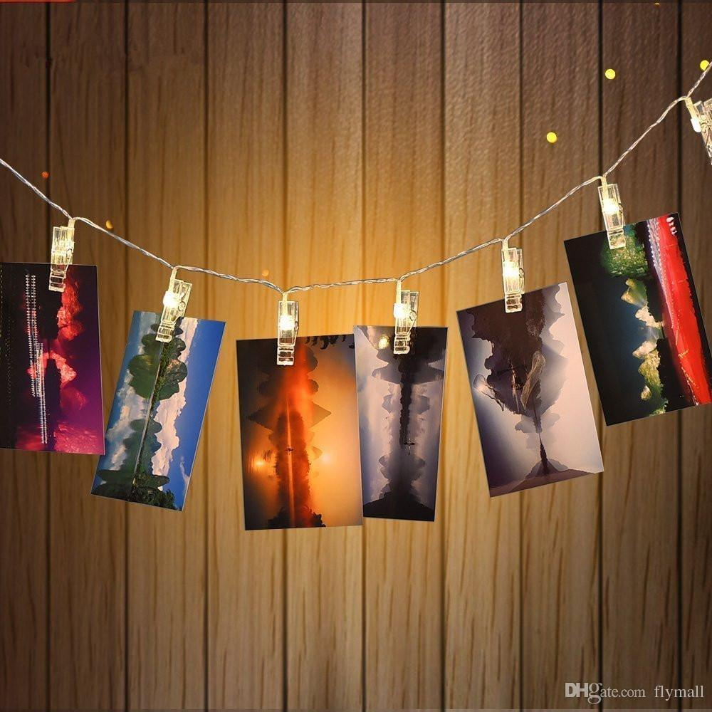 5M 20 LED Photo Clips String Light USB / Battery Powered LED Clips Lights Warm white/RGB Christmas Light for Hanging Pictures Notes Artwork