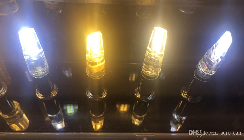 AC / DC 12V G4 COB أدى لمبة مصباح 3W 6W استبدال 10W 30W الهالوجين مصباح بقعة ضوء 360 شعاع زاوية شمعة Candelier ضوء خرافية
