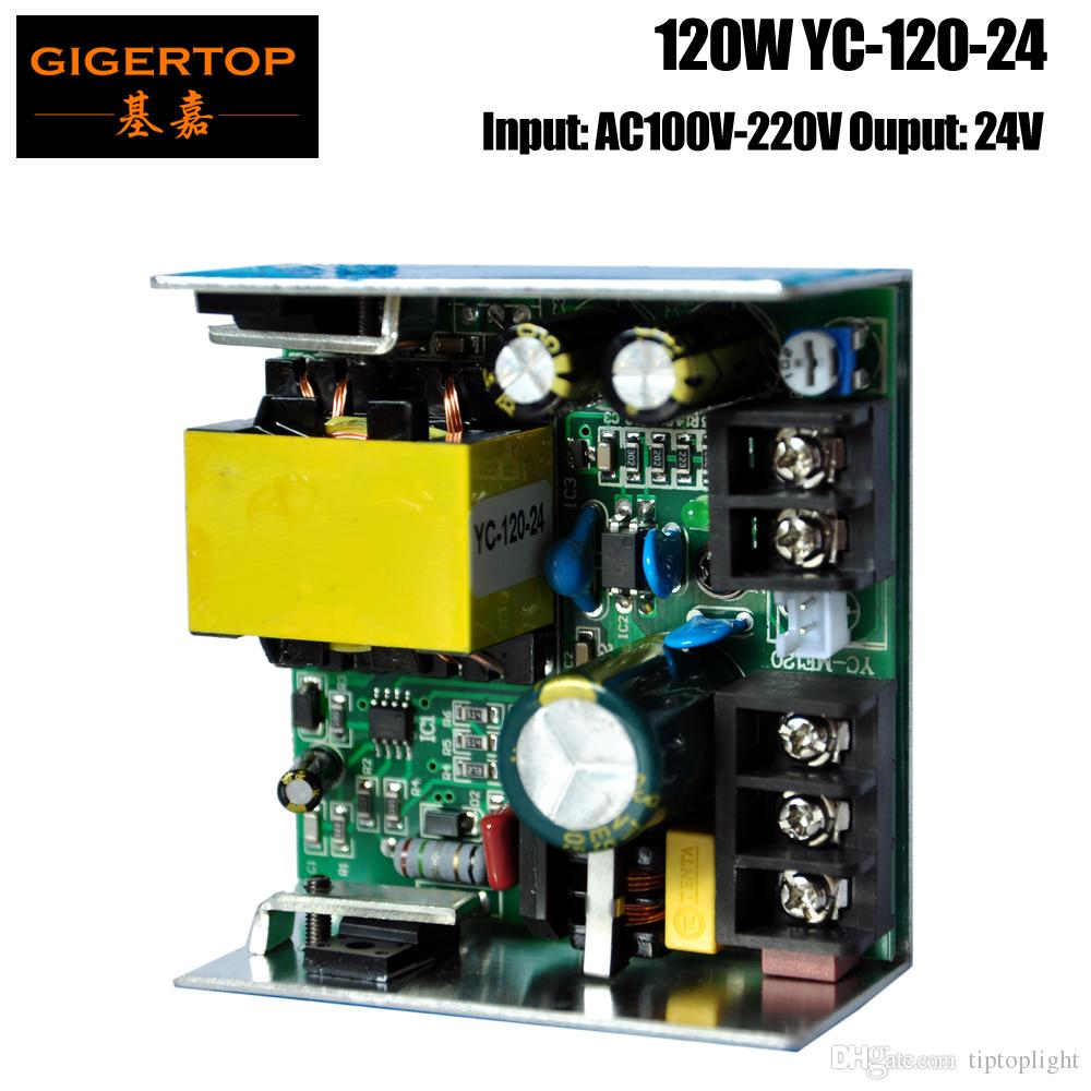 Tiptop Yc 120 24 120w Power Supply 24v Output Socket Compacted Size Schematic Diagram Of 24vdc Images For 7x10w 7x12w Rgbw Led Moving Head Light Mini Wash 90w