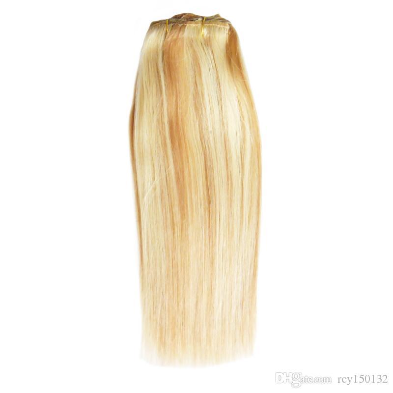 P27 / 613 التبييض شقراء الصف 6a + غير المجهزة عذراء البرازيلي الشعر مستقيم ريمي الإنسان ينسج 1 قطعة / الوحدة ، ضعف الانتباه ، لا ذرف