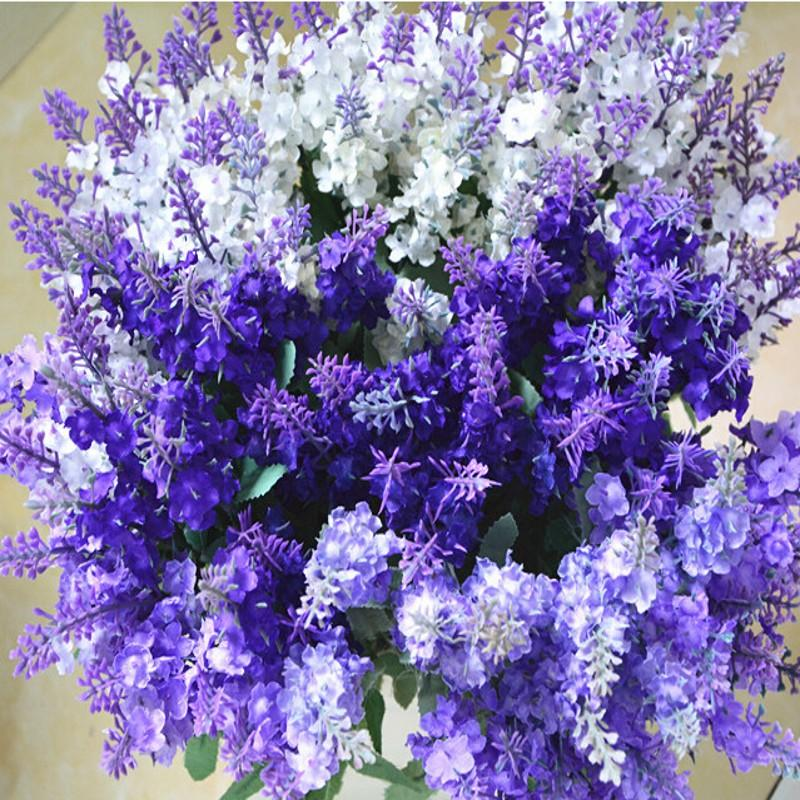 Discount Artificial Silk Lavender Flowers Wedding Christmas Party