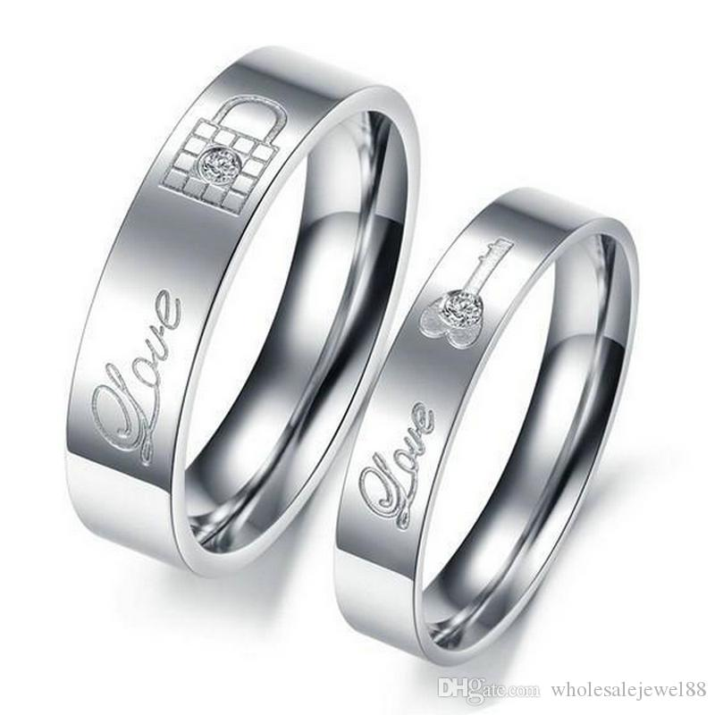 Hot Selling Fashion Jewelry New Design Key Lock Couple