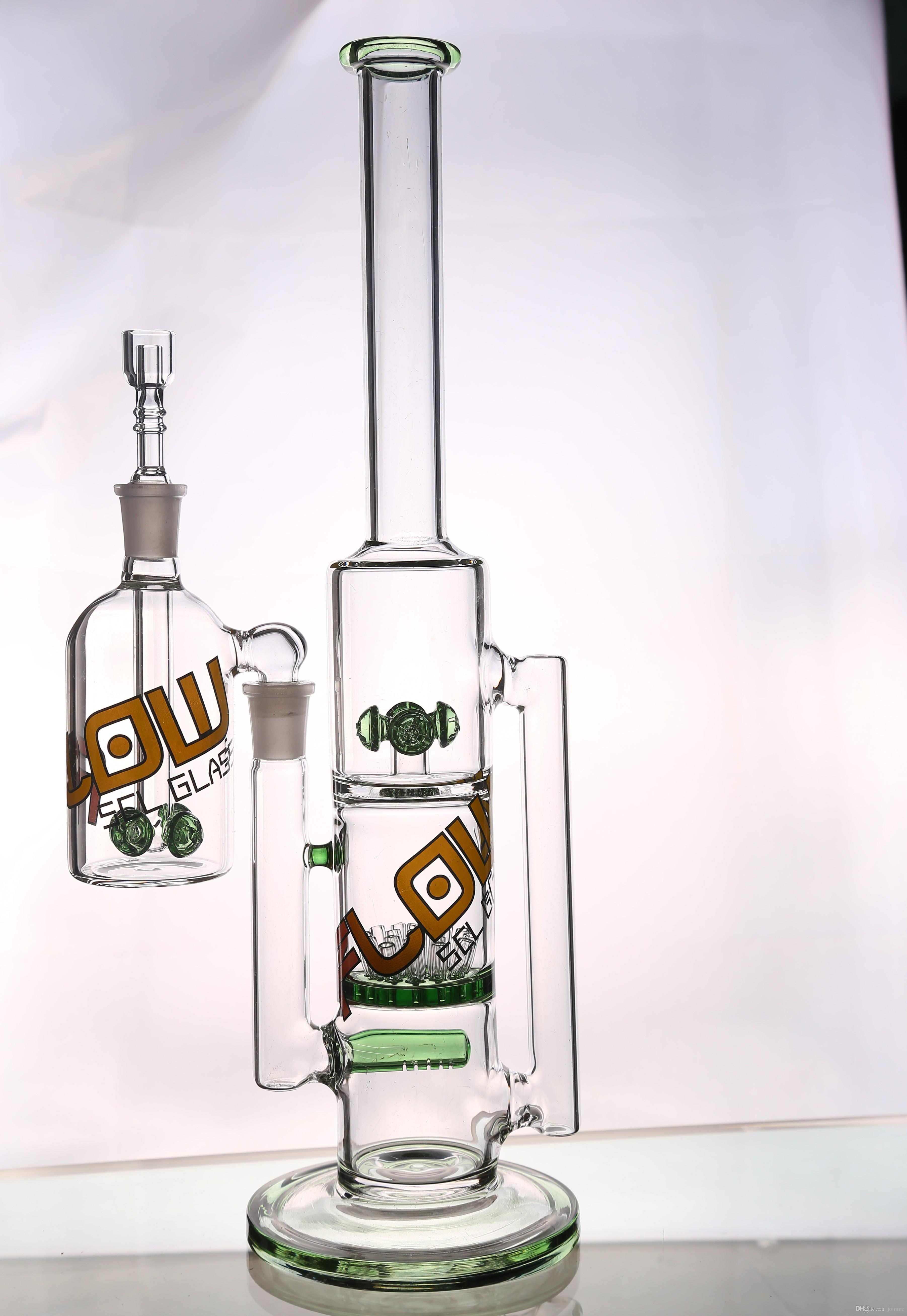 2018 diamond glass bong gear works perc with showerhead perc water bong 34cm cheap bong hookah pipe with 144mm joint with ash catcher glass pipe from - Diamond Glass Bong