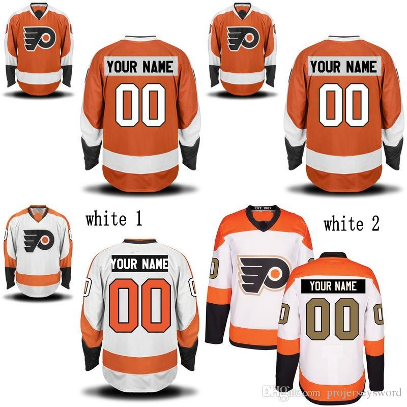 f1d8336cf4f 2019 Philadelphia Flyers Jersey S 5XL Personalized Customized Jerseys With Any  Name And Any Number 100% Stitched Embroidery Logos Hockey Jerseys From ...