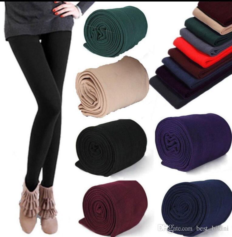 b354d1792f86d 2019 Warm Women Winter Leggings Thick Fleece Stretch Skinny Pants ...