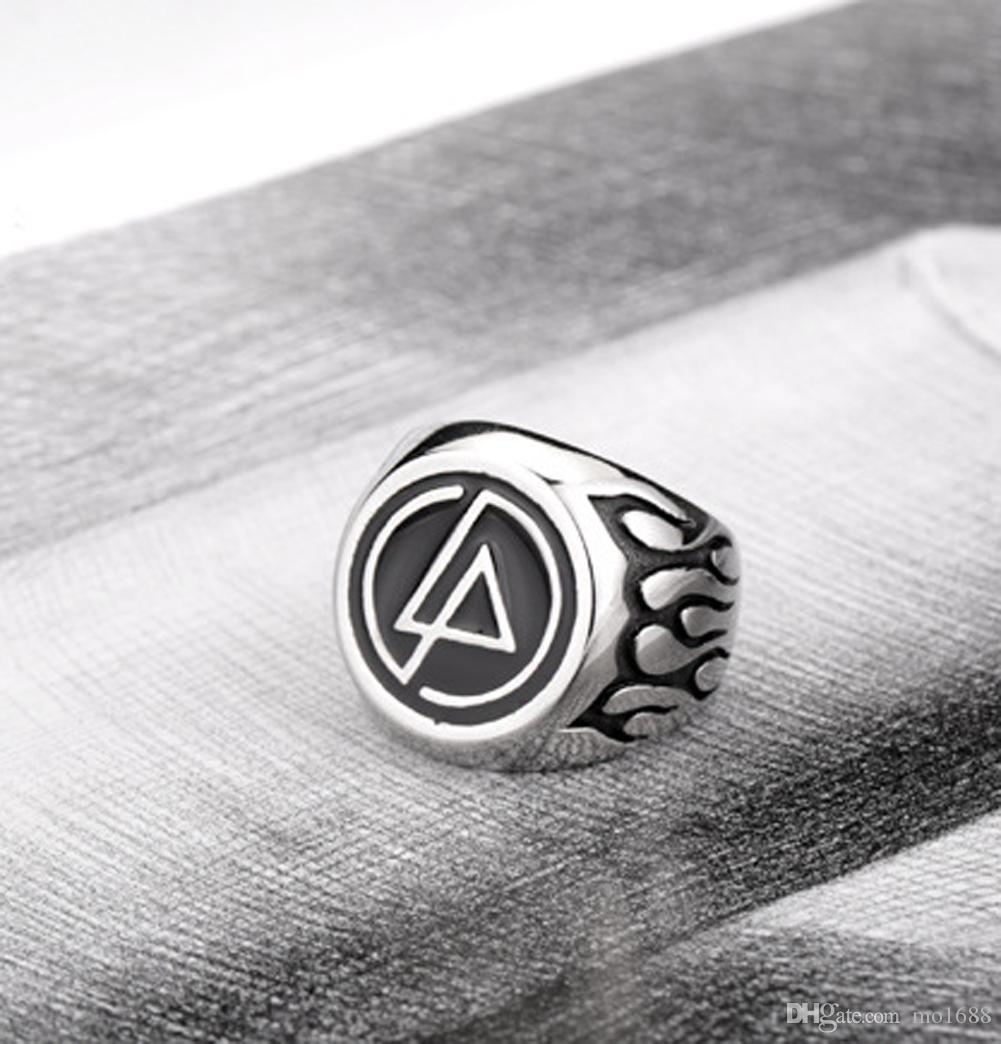 316L Stainless Steel Never Fade Punk Rock Rocker Music Band Rock Fire Flame Jewelry Mens Ring Size 7-13