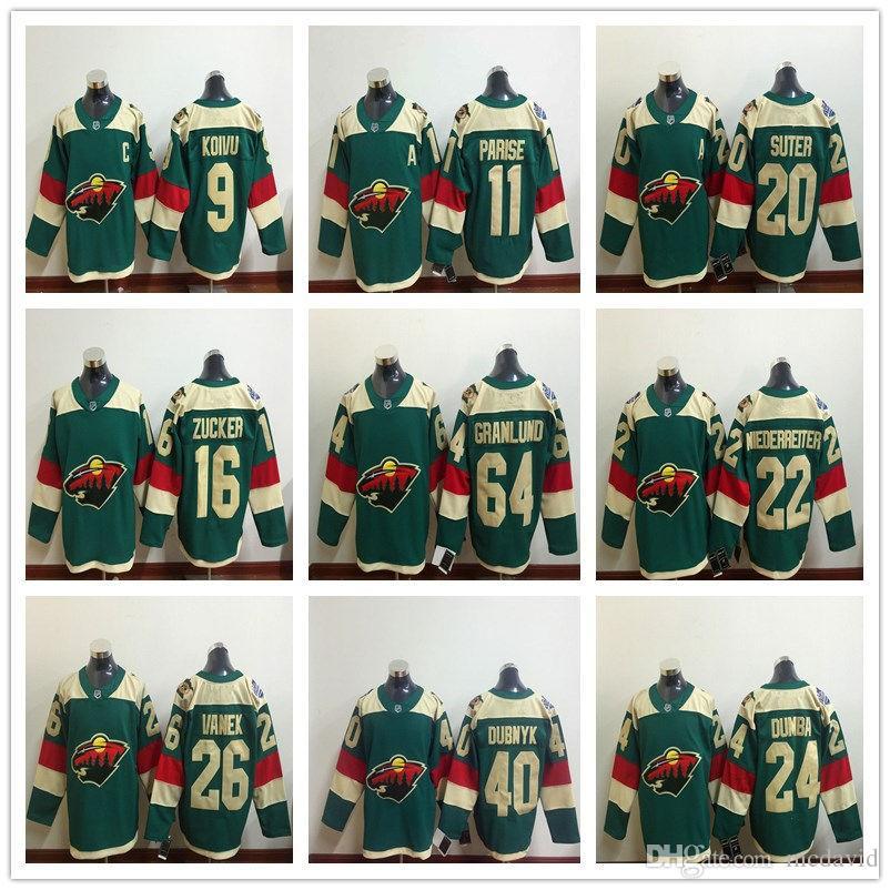 ce071a4a0 Discount Minnesota Wild 2017 Stadium Series 9 Mikko Koivu 11 Zach Parise 16  Jason Zucker 20 Ryan Suter 22 Nino Niederreiter Ice Hockey Jerseys From  China ...