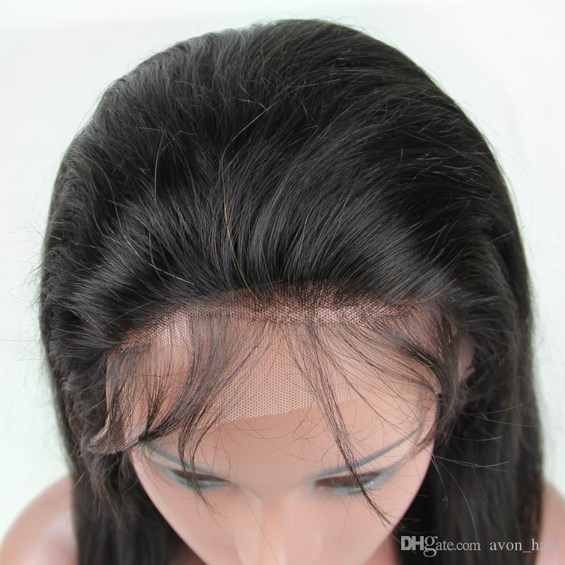 브라질 9A 느슨한 웨이브 가발 아기 머리카락 최고의 인간의 머리카락없는 풀무원 느슨한 곱슬 풀 레이스 인간의 머리 가발 흑인 여성을위한