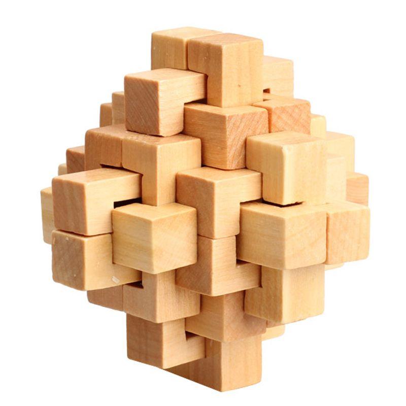 3D Wooden Puzzle Novelty Toys Magic Cube Educational Brain