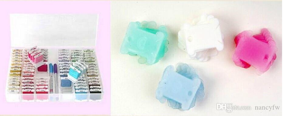 DIY рукоделие вышивки крестом инструмент пластиковые Storge Box 36 сетки + 100 шт. доска резьбы+ 1 шт. бумажная этикетка для 477 DMC цветов