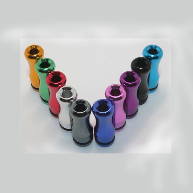 NOUVEAU 510 Aluminium Drip Tips En Aluminium Largeur Alésage Drip Tip Coloré En Verre Drip Tips pour CE4 DCT EGO Acrylique En Acier Inoxydable réservoir