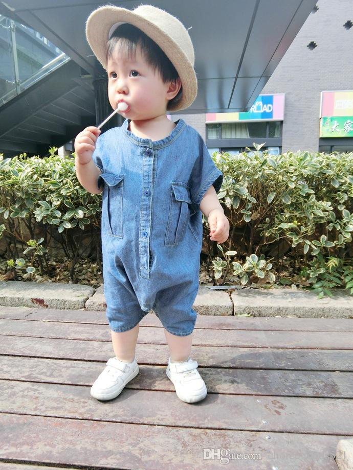8e02f48af3f 2019 Summer Baby Jumpsuits Boy Girl Cowboy Jumpsuits Child Clothing Children  Clothes Denim Jumpsuits 5 P L From Choicegoods521