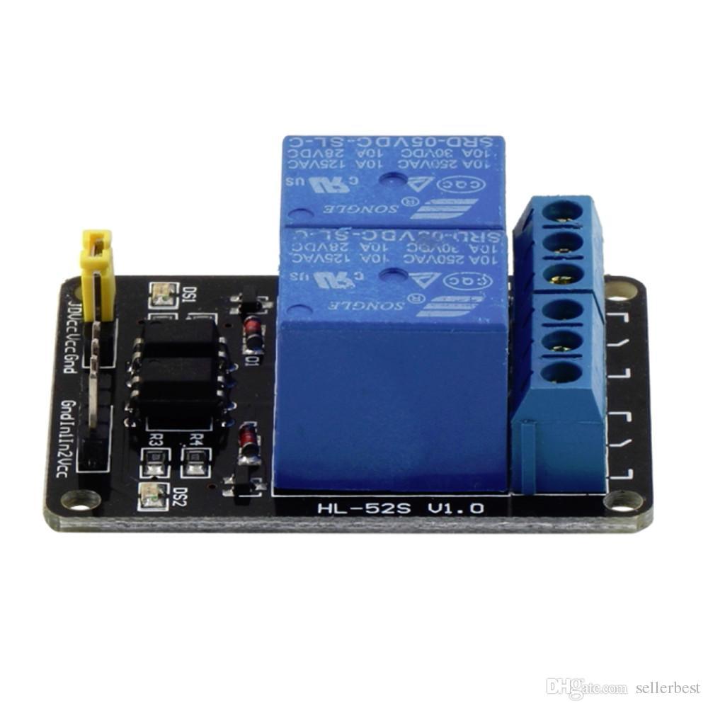 5 V 2 Kanal Relaismodul Schild mit Optokoppler Für Arduino ARM PIC SPS AVR DSP MCU SCM Singlechip Electronic