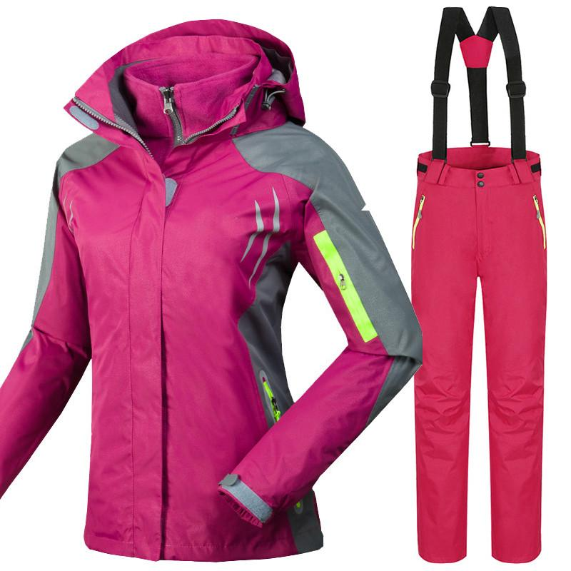 a376ce17e Winter Mountain Skiing Tracksuits for Women Outdoor Windproof ...