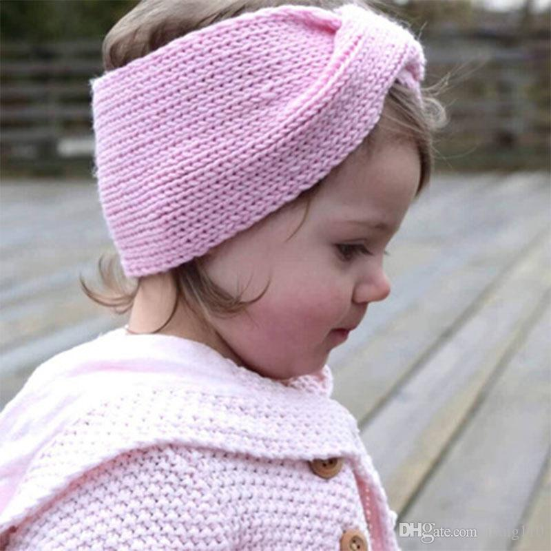 93c660686 Newborn Baby Headbands Crochet Elastic Headband Children Hair Accessories  Kids Cute Hairbands for Girls Turban Knitted Headwear Headwrap