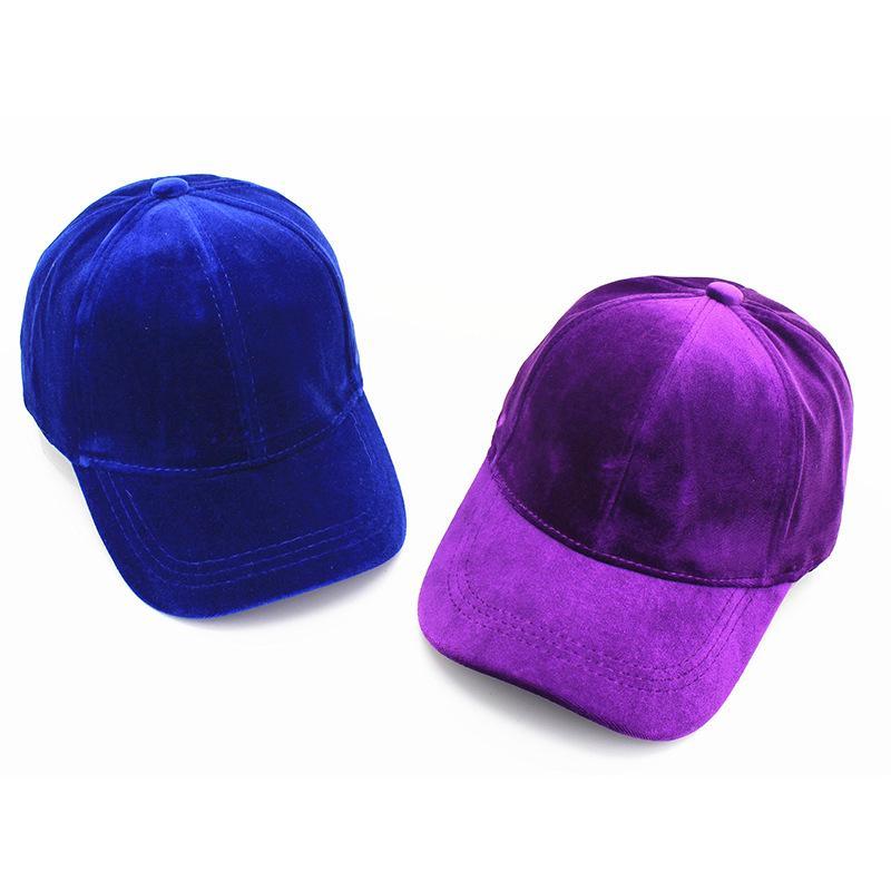 19e46f2e4 Velvet Solid Peaked Cap for Men Women Fashion Snapback Adjustable 6 Panel  Baseball Cap Hiphop Thicken Caps Gorras for Unisex
