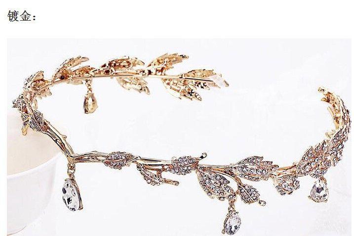 2018 Cheap Silver Gold Wedding Accessories Bridal Tiaras Crystal Rhinestone Hair Bands Bridesmaid Women Hair Jewelry Crowns Headband