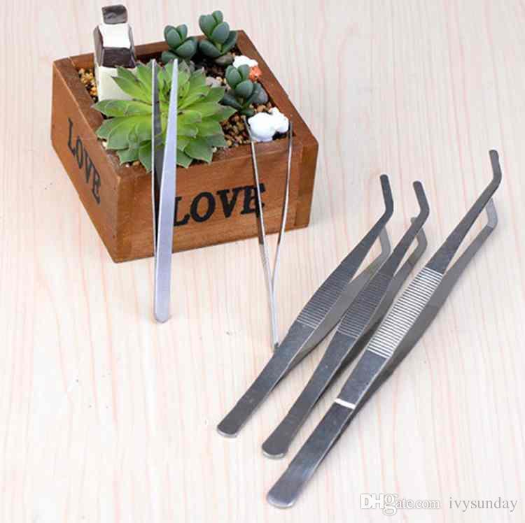Düz Viraj Paslanmaz Çelik Cımbız Moss Mikro Peyzaj Süsler Özel Bahçe Aletleri DIY ZAKKA Peri Bahçe Bonsai Zanaat Araçları
