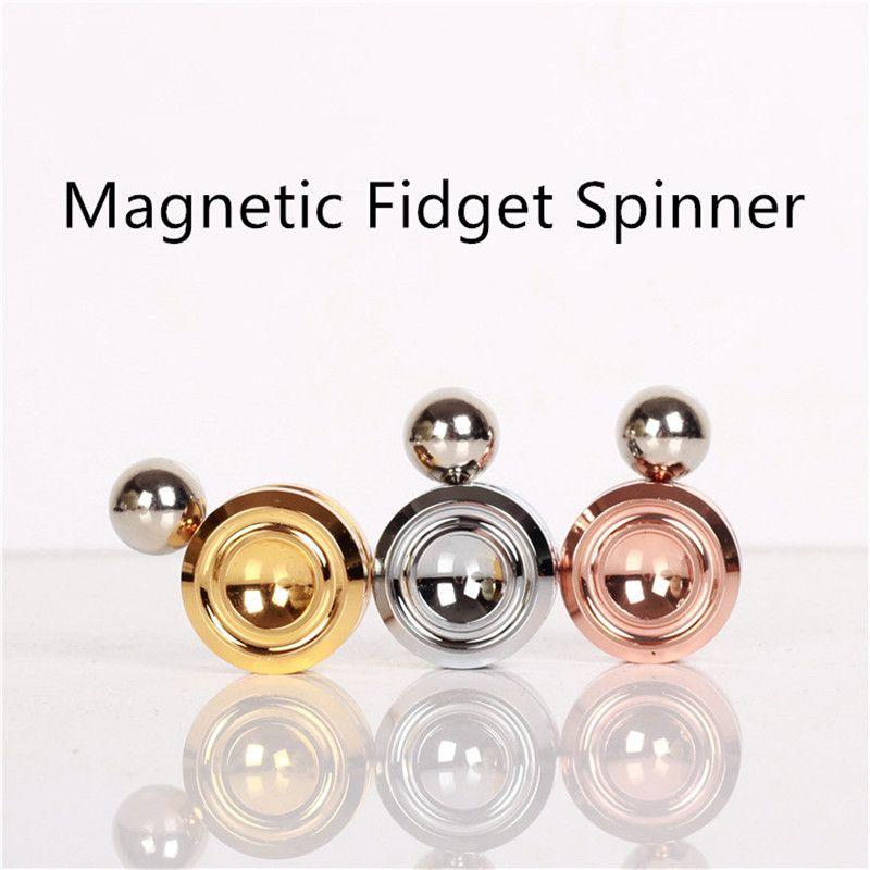 100 stücke Magnetic Fidget Orbiter mit Stahlkugeln Neodym-magneten 3 Farben SUS Hand Spinner EDC Neuheit Zappeln spielzeug Spinner Dekompression