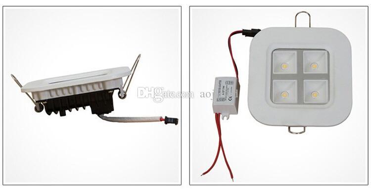 Precio al por mayor 4X1W LED Parrilla Lámparas Bombilla Panel luces Ceiliing Interior Iluminación AC85 ~ 265V Luces garantía 2 años CE RoHS