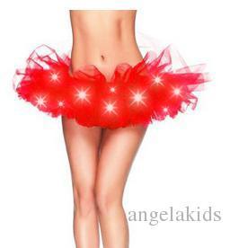 Led tutu Dress dance Performance Skirt Colorful LED Tutu Skirts Up Neon Fancy Rainbow Fancy Costume light Mini Tutu Skirt