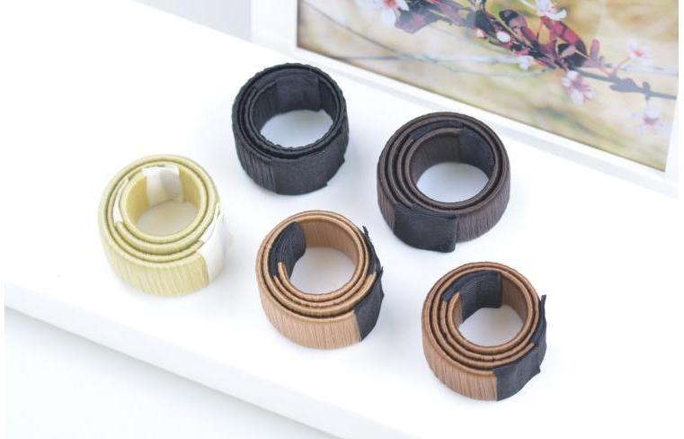 Saç Sihirli Araçları Bun Maker Saç Bağları Kız DIY Styling Donut Eski Köpük Saç Yaylar Fransız Büküm Sihirli Araçları Bun Maker
