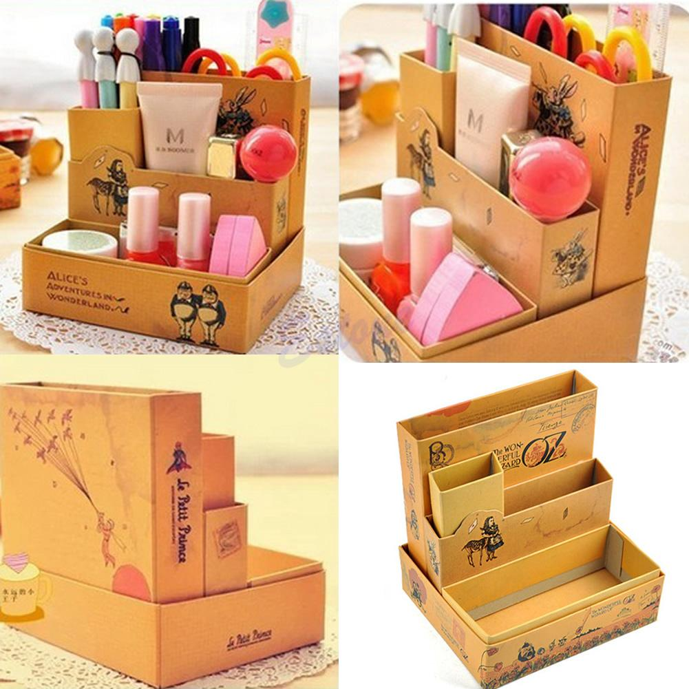 diy office supplies. 2018 Wholesale New Storage Box Desk Stationery Diy Paper Board Fairy Tale Cosmetic Makeup Organizer From Olgar, $32.0 | Dhgate.Com Office Supplies