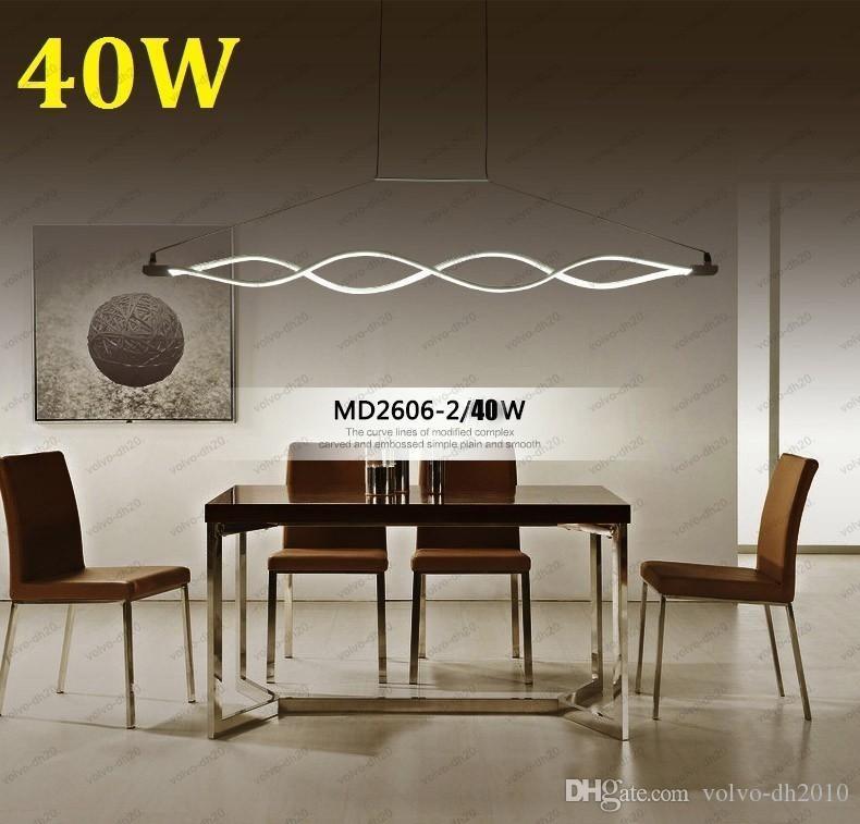 Novo design Onda forma 80 W moderno pingente luzes para sala de jantar dimmable led light criativo lâmpada pendurada lamparas LLFA