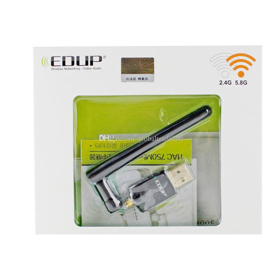 EDUP EP-DB1607 Adaptateur USB sans fil double bande 2.4G / 5.8G AC600MBPS avec antenne 2dbi Realtek8811AU Dongle WiFi 600MBPS