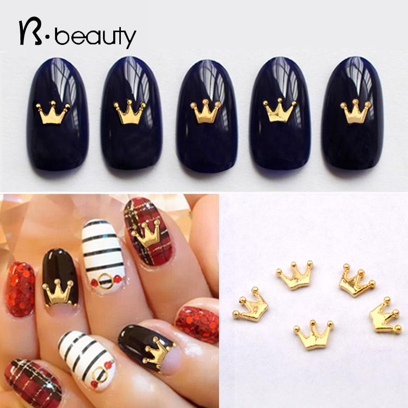 Wholesale New Crown Alloy Nail Art Rhinestone Golden 3d Nail Jewelry ...
