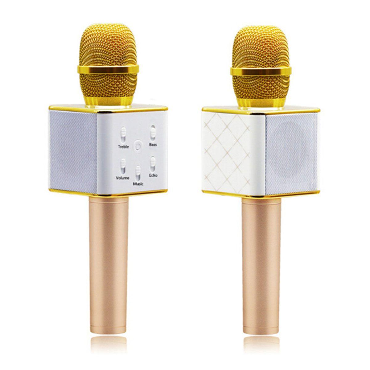 Q7 Micrófono de mano Bluetooth Wireless KTV con altavoz MIC MICROFONO Handheld para smartphone Portable Karaoke Player 0802218