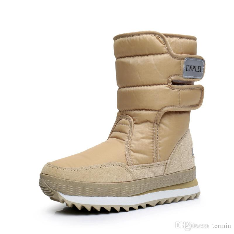 a04755aad4c Winter plus velvet snow boots waterproof warm cotton shoes padded women  boots in the tube boots . XDX-060